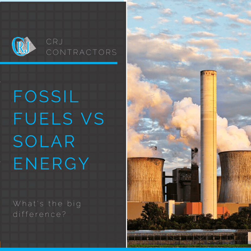 featured photo showing fossil fuels versus solar energy