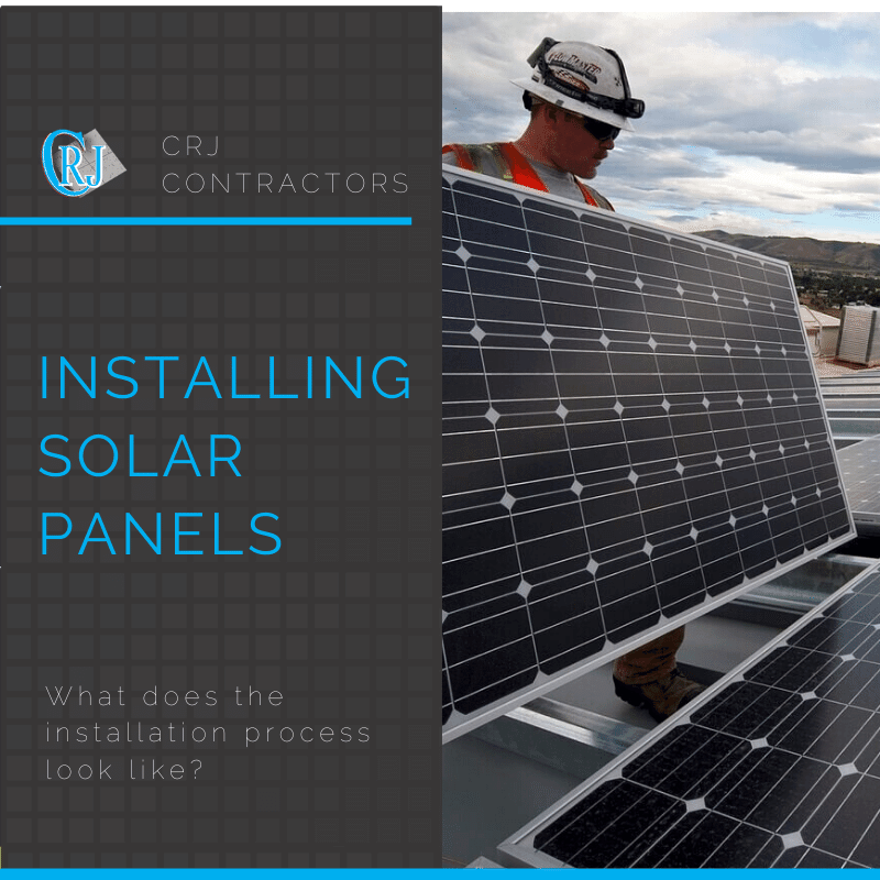 featured photo showing how installing solar panels works