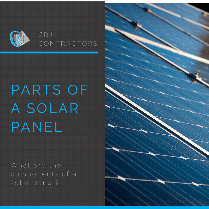 featured photo showing the parts of a solar panel